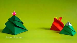 origami christmas tree box 3 variations caja remolino youtube