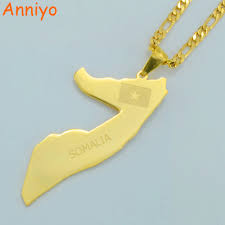 Map Of Somalia Aliexpress Com Buy Anniyo Map Of Somalia Pendant Necklaces For