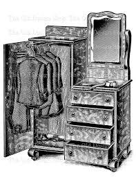 victorian dresser closet wardrobe no 1 printable vintage