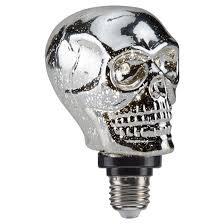 Flickering Light Bulb Halloween Halloween Skull Led Light Bulb Bottom Hyde And Eek Target