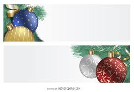 3d ornament banner set vector
