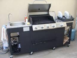 evier cuisine exterieure barbecue à gaz 5 brûleurs cuisine extérieure d artagnan
