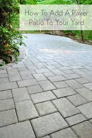 Diy Pavers Patio Diy Paver Patio Add Base For Patio Stones Add Using Pavers For