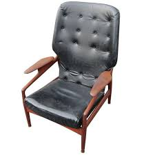 Vintage Leather Recliner Vintage Reclining Lounge Chair In The Manner Of Finn Juhl For Sale