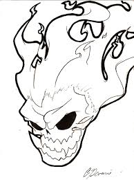 flaming skull by megageekserious on deviantart