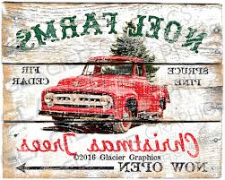 large country christmas tree farm primitive sign digital