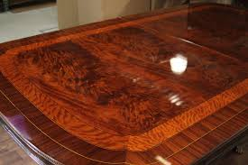 large dining room table designer dining table double pedestal large dining room table with okoume veneer and multi banded with rosewood satinwood and mahogany