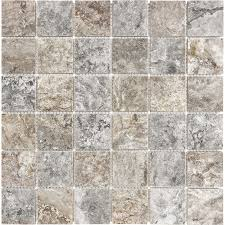 shop anatolia tile silver ash uniform squares mosaic travertine