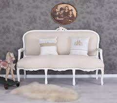 canapé shabby chic canape baroque blanc style louis xv sofa en bois hetre meridienne