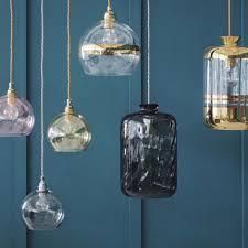 Blue Glass Pendant Light by Glass Pendant Lights Mad About The House