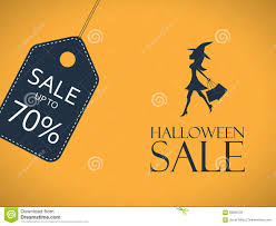 halloween sale poster discount sticker with stock photo image