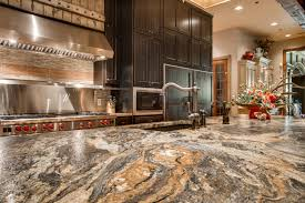 Rustic Kitchen Countertops by Volcano Granite In A Leather Finish Makes This Rustic Chic Kitchen