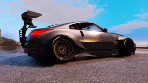nissan 350z wallpaper nissan 350z rocket bunny kit stanced add on gta5 mods com