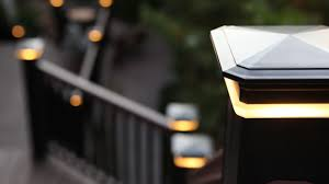 Solar Lights On Fence Posts by Deck U0026 Rail Lighting Deck Lights Outdoor Lighting Azek