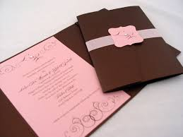 pink wedding invitations chocolate and pink wedding invitations cherry