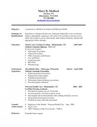 Sample Resume Certified Nursing Assistant by The Amazing Certified Medical Assistant Resume Resume Format Web