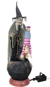 Halloween Witch Animated Halloween Stew Brewing Witch Animated Figure Mad About Horror