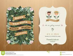 wedding card from to groom wedding invitation card rustic and groom stock
