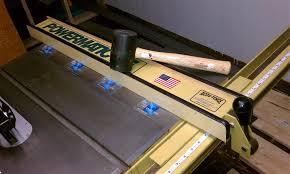 powermatic table saw model 63 refurbish powermatic table saw 5 finishing up repairing the fence