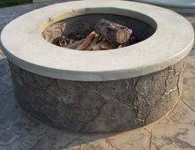 Concrete Firepit Outdoor Pits Pictures Gallery The Concrete Network
