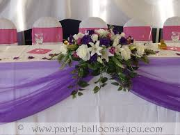 Table Flowers by Wedding Venue Decorations Done At Goals Soccer Centre Brislington