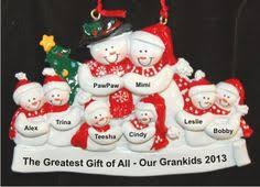 from 7 grandkids to grandparents personalized ornament