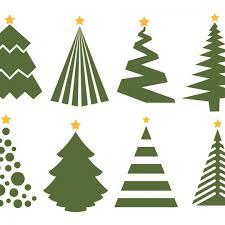 christmas tree vectors christmas lights decoration