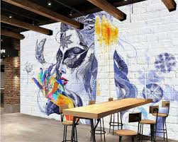 painted brick walls promotion shop for promotional painted brick beibehang custom wallpaper white brick wall hand painted mascara fresco decorative background 3d wallpaper for walls mural photo