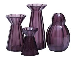 Amethyst Glass Vase Amethyst Home Accessories Purple Decor Ideas