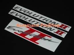 mitsubishi evo emblem acromann online shop
