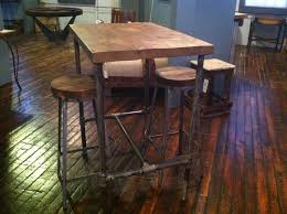 Patio High Table by Furniture Old Rustic Small High Round Top Kitchen Table And Chair