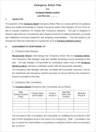 emergency action plan template 15 free word excel pdf format