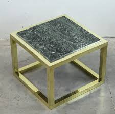 Marble Coffee Table Vintage Spanish Brass And Green Veined Marble Coffee Table For