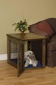 dog crate end table u2014 unique hardscape design the useful dog