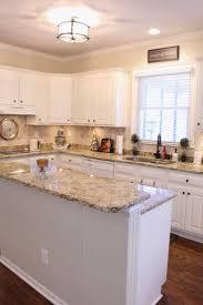 White Kitchen Cabinets With Backsplash Travertine Countertops Hampton Bay Kitchen Cabinets Lighting