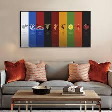 Vintage Flag Art Modern Pop Tv Movie Snow King Game Logo Flag A4 Big Poster Living
