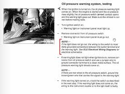 oil pressure warning light low oil pressure warning possible cause bimmerfest bmw forums