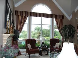 dashing stripped window curtain valance treatment ideas for brown