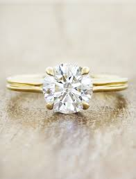 delicate engagement rings vee delicate diamond ring 2mm yellow gold band ken
