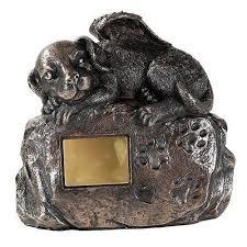 dog cremation pet memorial angel dog cremation urn bronze finish bottom load 45