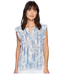 sleeveless ruffle blouse ivanka georgette sleeveless ruffle blouse at zappos com