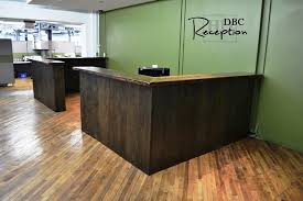 Reclaimed Wood Reception Desk Reclaimed Wood Reception Desk Tannery Kitchener Blog