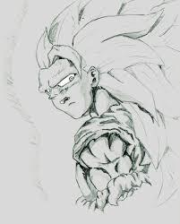 ssj3 goku pencil sketch by kastrishis on deviantart