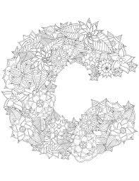 Alphabet coloriage lettre C à imprimer  Artherapieca