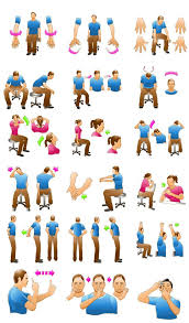 Office Chair Exercises Office Clipart Stretches Pencil And In Color Office Clipart