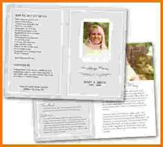7 funeral program templates free itinerary template samplechild