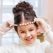 oufu ting country child korean hair jewelry pearl belt with