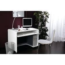 bureau ordinateur blanc bureau informatique blanc en verre 9550 1 beraue conforama