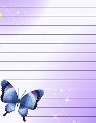 butterflies free printable stationery for regular lined
