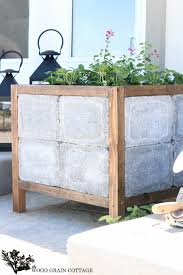Planters Diy by Patio Planters Diy Home Design Planning Modern With Patio Planters